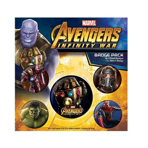 Marvel Avengers Infinity War Button Badge Pack